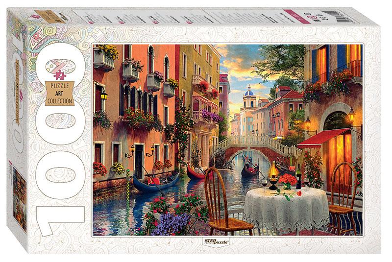 Puzzle Step Puzzle Restaurante en Venecia de 1000 Piezas