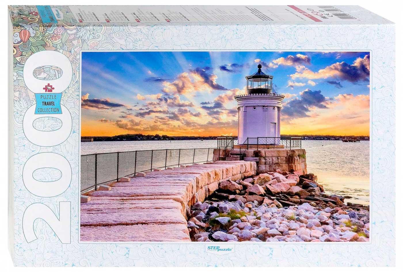 Puzzle Step Puzzle Faro de Portland, Maine de 2000 Piezas