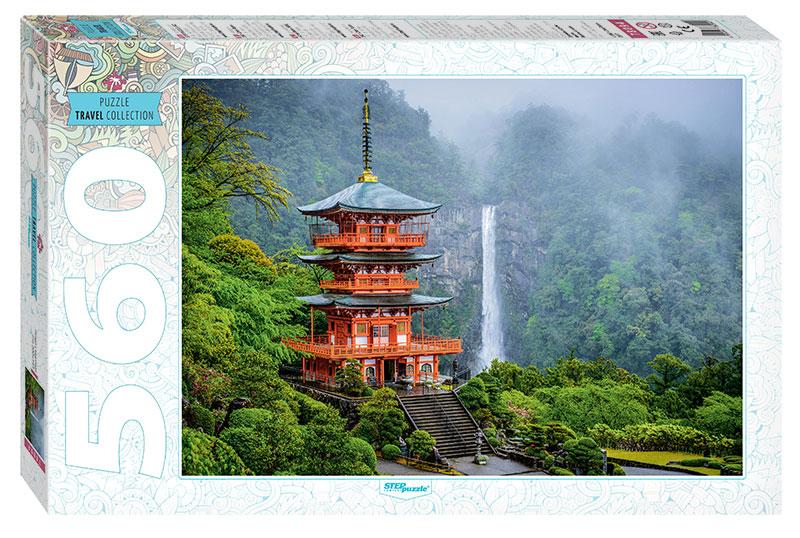 Puzzle Step Puzzle Templo Seiganto-Ji y Cascada de 560 Piezas