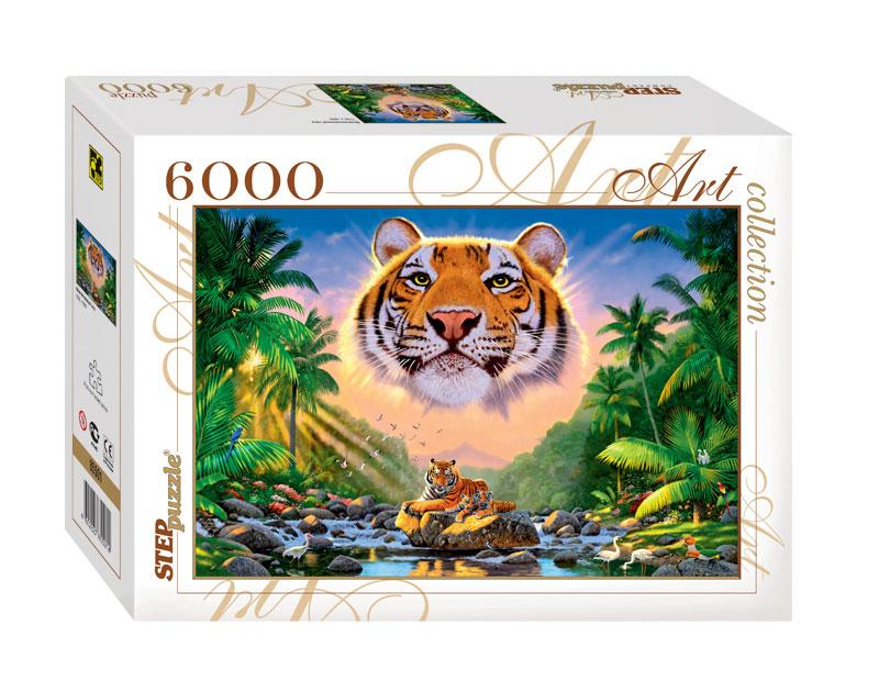 Puzzle Step Puzzle Tigre Magnífico de 6000 Piezas