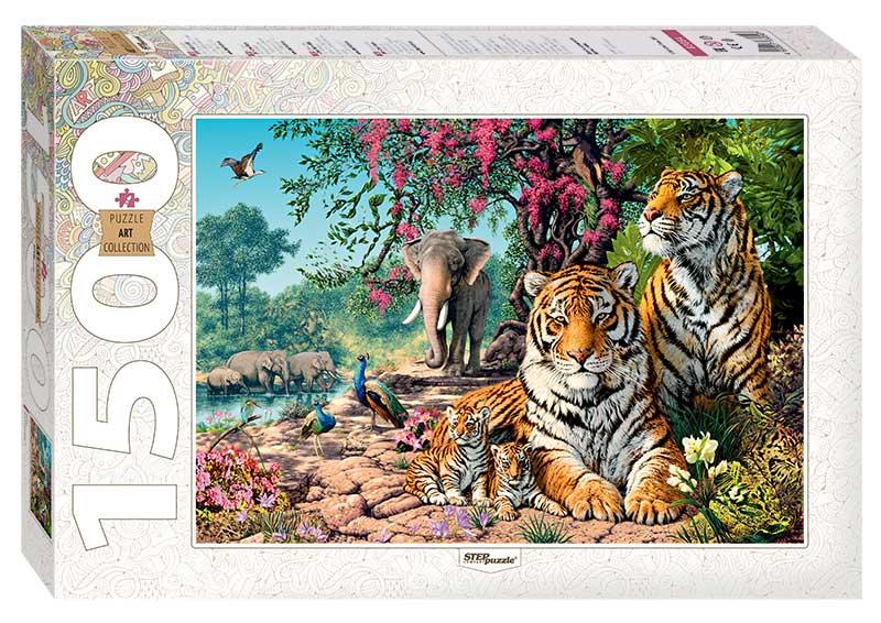 Puzzle Step Puzzle Tigres de 1500 Piezas