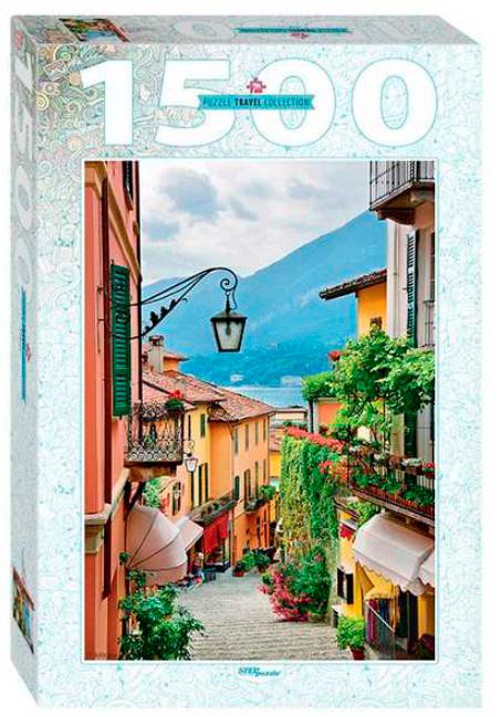 Puzzle Step Puzzle Vista del Bellagio y Lago Como de 1500 Pzs