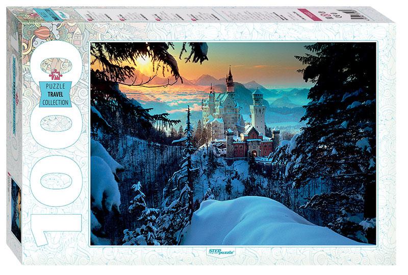 Puzzle Step Puzzle Castillo de Neuschwanstein en Invierno 1000p