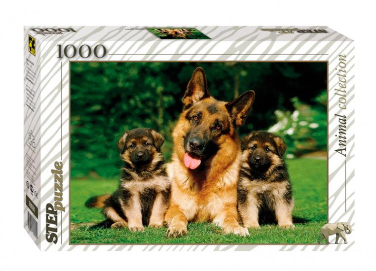 Puzzle Step Puzzle Familia de Perros de 1000 Piezas