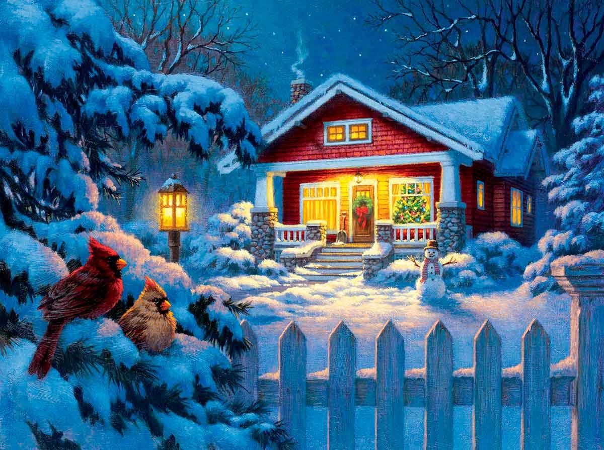 Puzzle SunsOut Bungalow de Navidad de 1000 Piezas