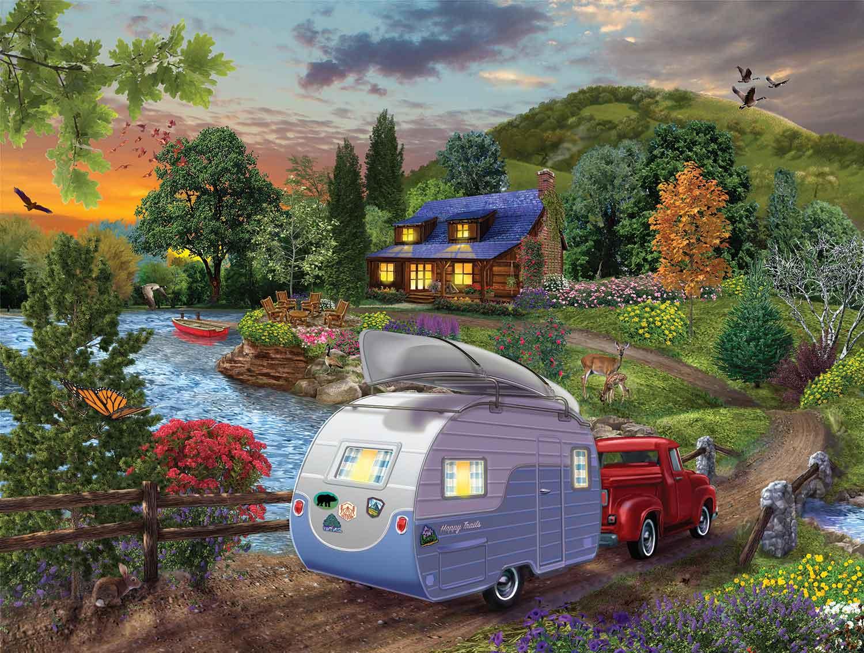 Puzzle SunsOut Campistas Volviendo a Casa XXL de 300 Piezas