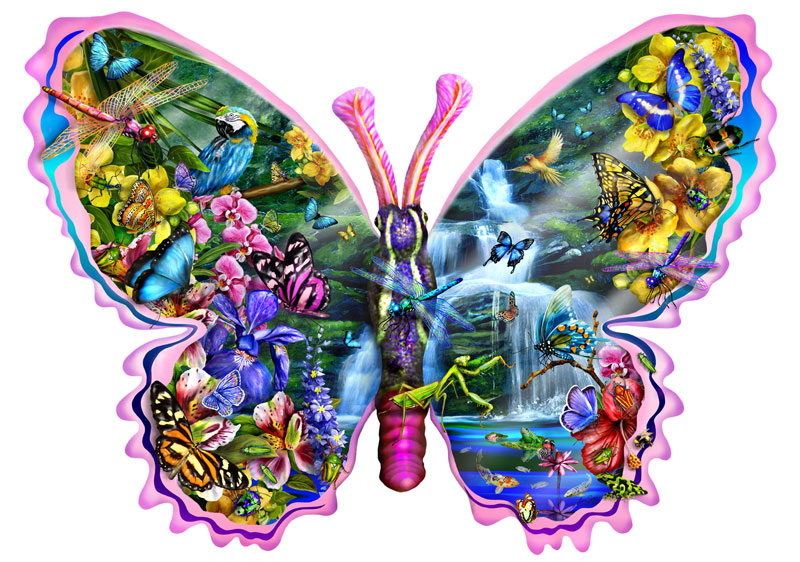 Puzzle SunsOut Cascada de Mariposas de 1000 Piezas