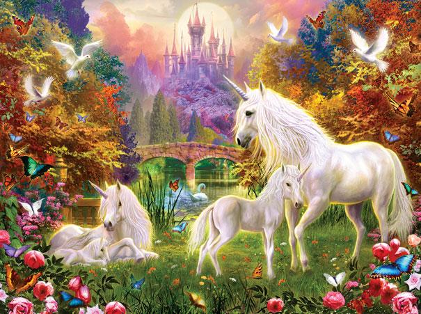 Puzzle SunsOut Castillo Unicornios de 1000 Piezas