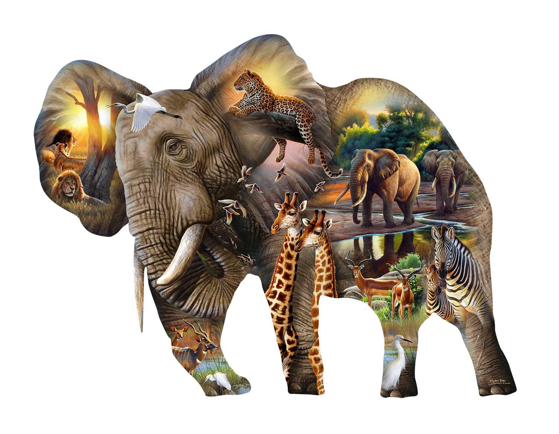 Puzzle SunsOut El Elefante XXL de 1000 Piezas
