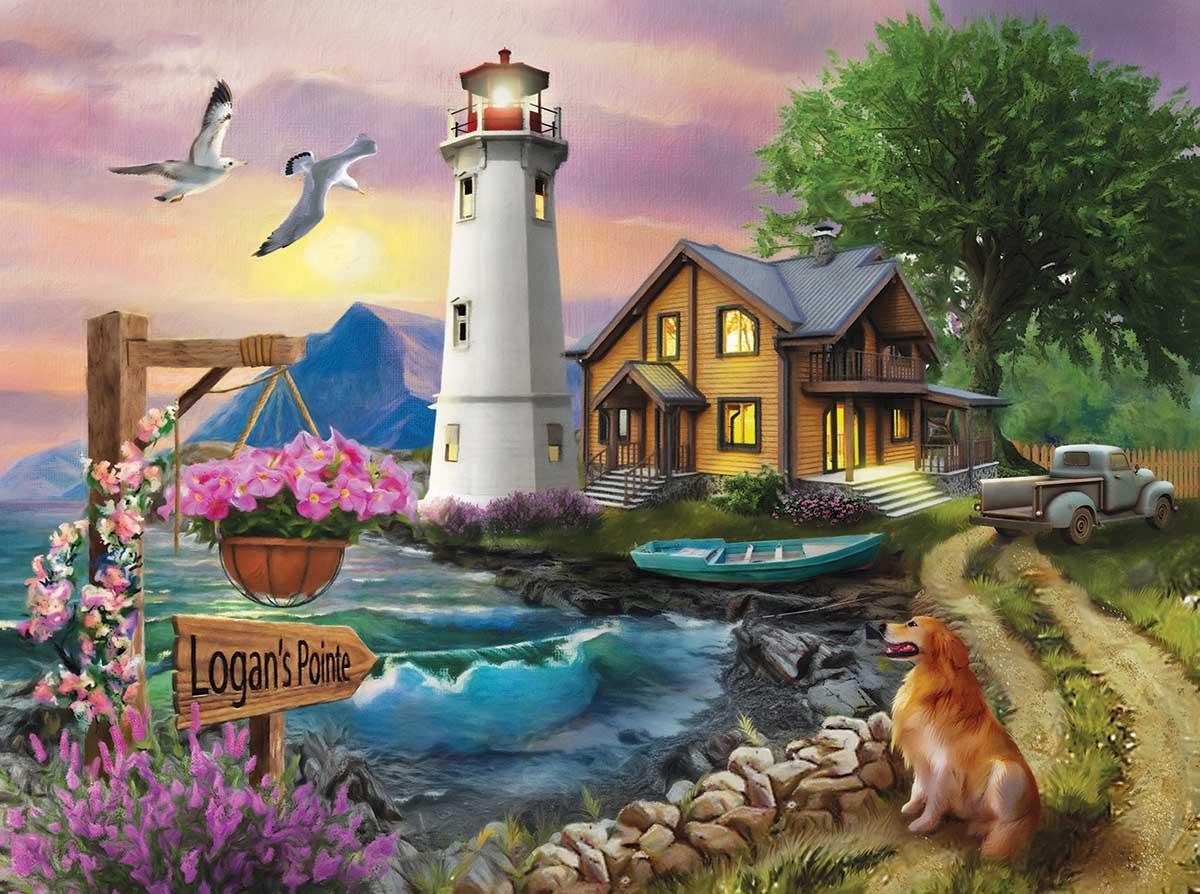 Puzzle SunsOut El Faro de Logan de 1000 Piezas