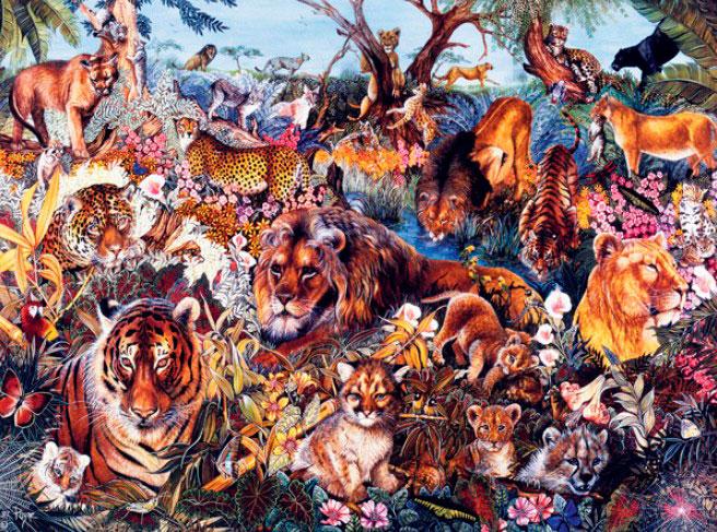 Puzzle SunsOut Fantasía Animal XXL de 300 Piezas