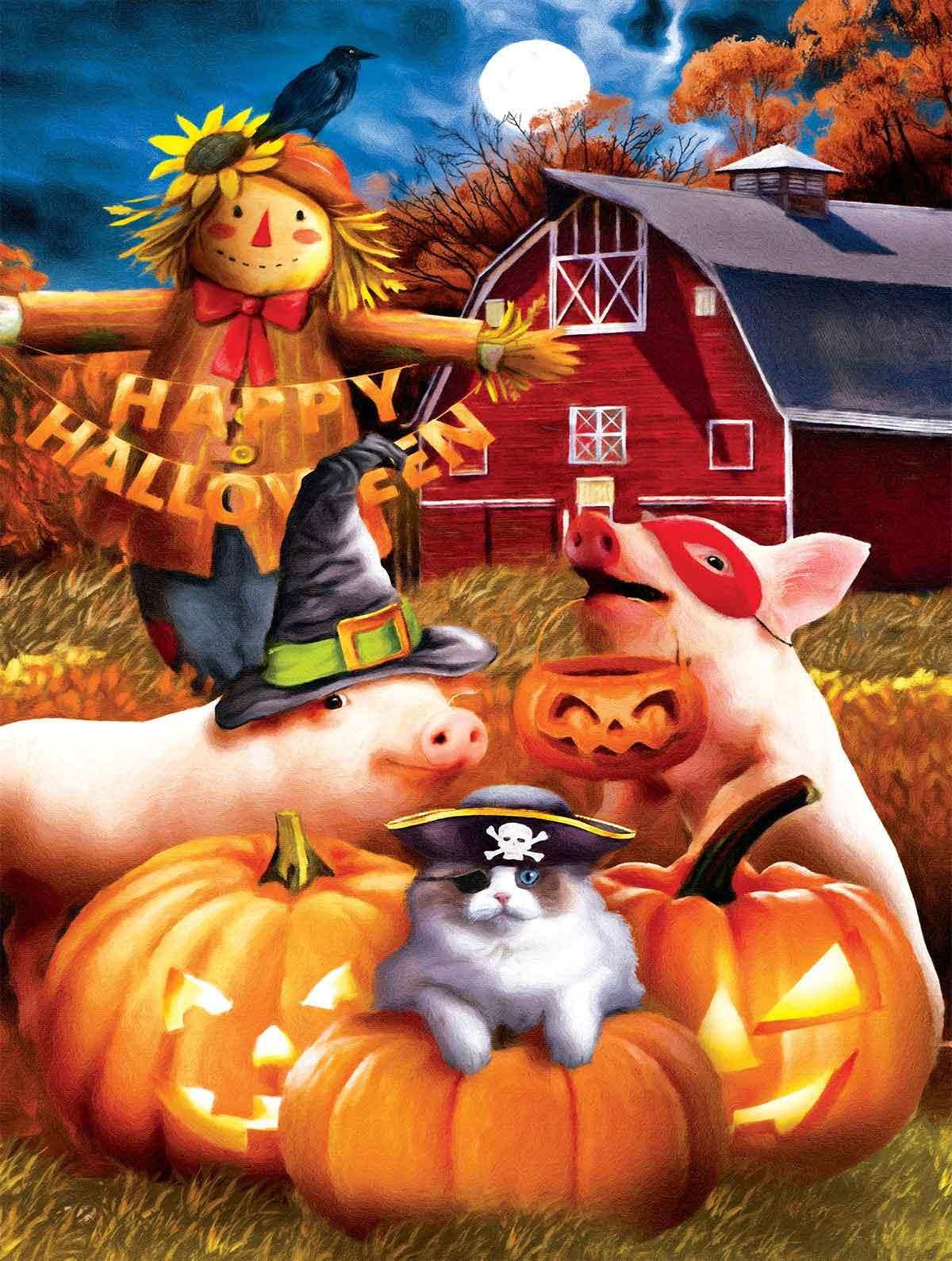 Puzzle SunsOut Feliz Halloween XXL de 500 Piezas