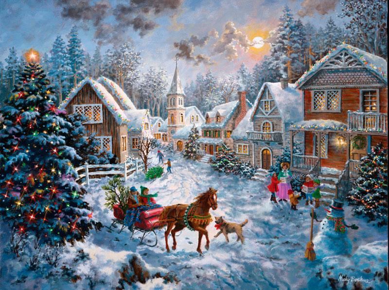 Puzzle SunsOut Feliz Navidad de 1000 Piezas