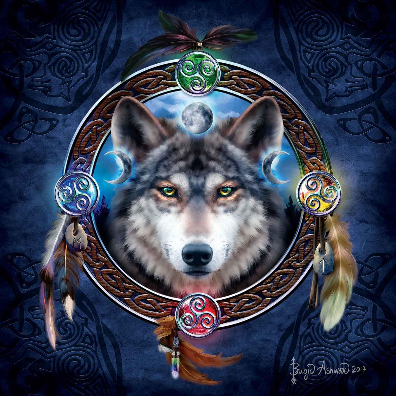 Puzzle SunsOut Guía del Lobo Celta de 1000 Piezas