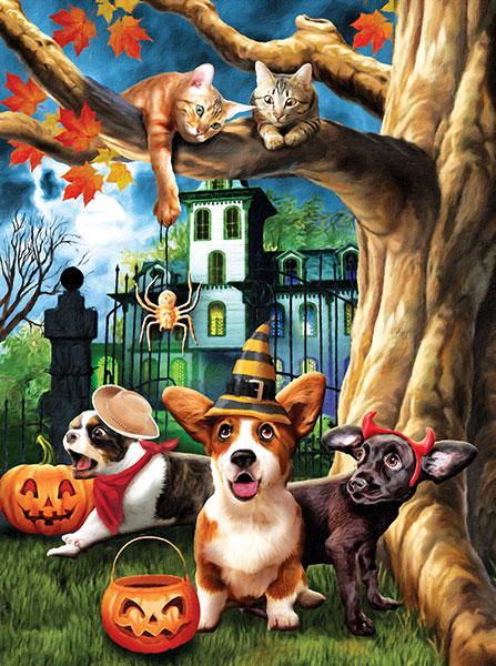 Puzzle SunsOut Halloween Hijinks de 1000 Piezas