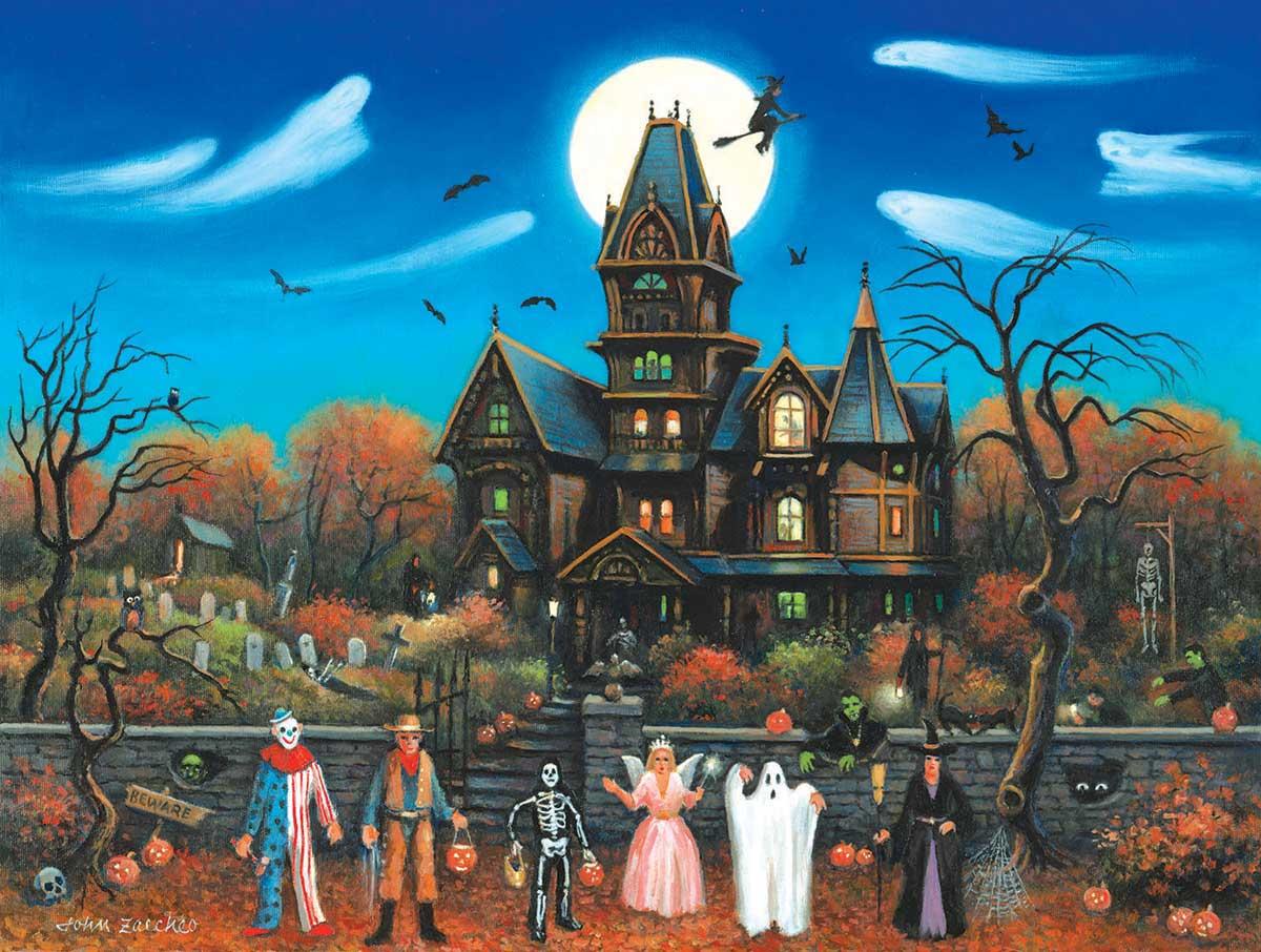 Puzzle SunsOut Halloween Truco o Trato XXL de 300 Piezas