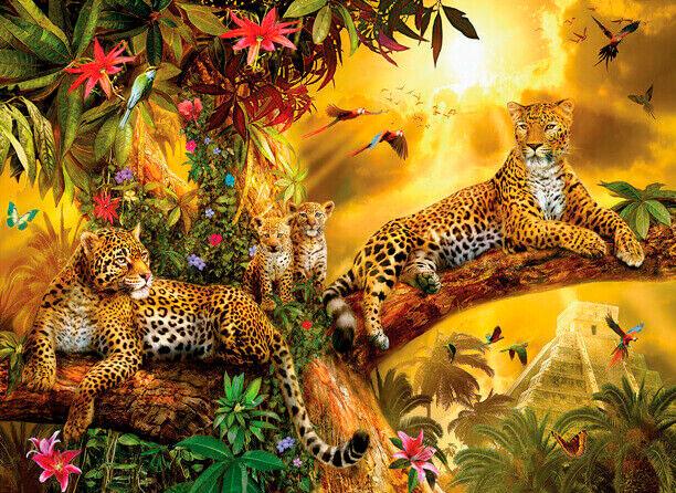 Puzzle SunsOut Jaguares en la Jungla XXL de 500 Piezas