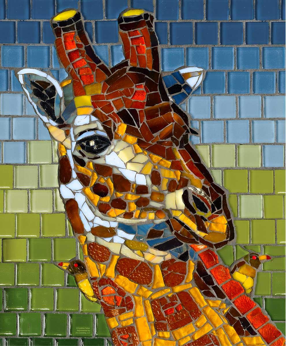Puzzle SunsOut Jirafa de Mosaico de 1000 Piezas