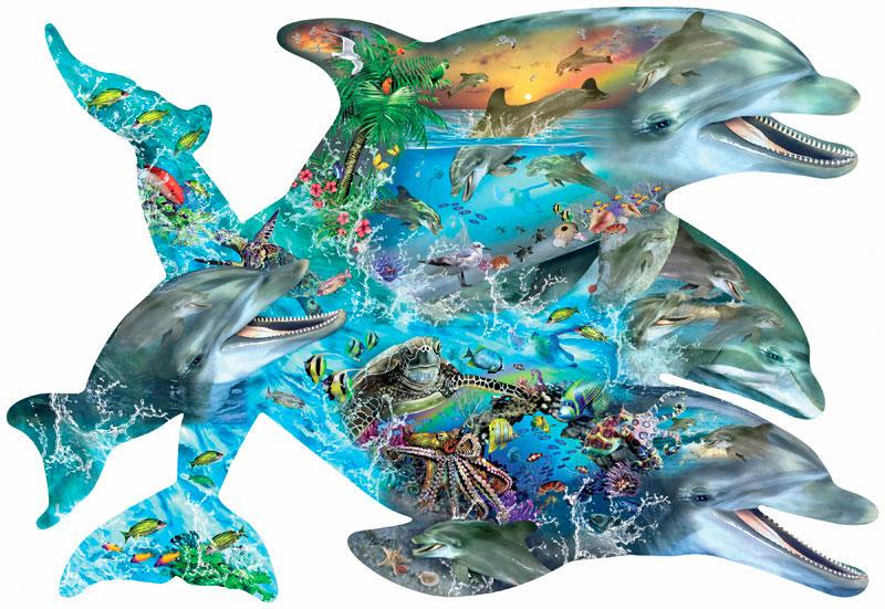 Puzzle SunsOut La Canción de los Delfines de 1000 Piezas