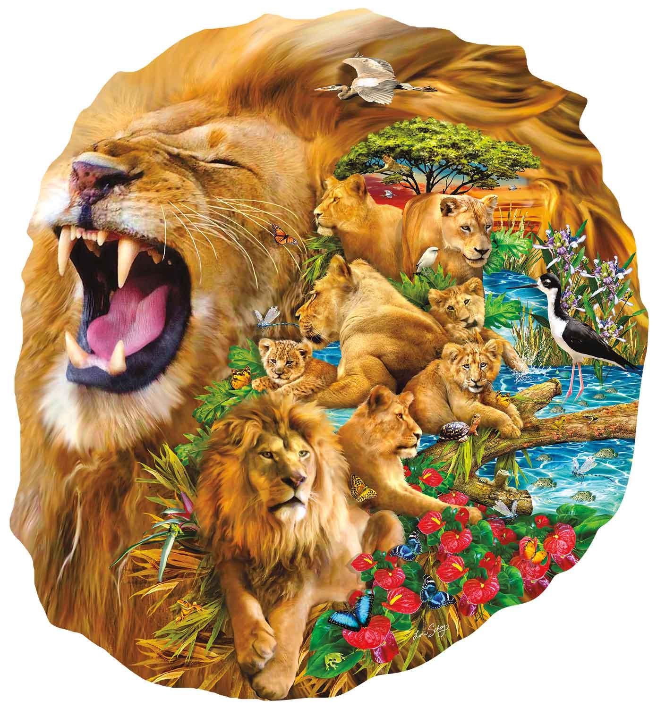 Puzzle SunsOut La Familia del León de 1000 Piezas