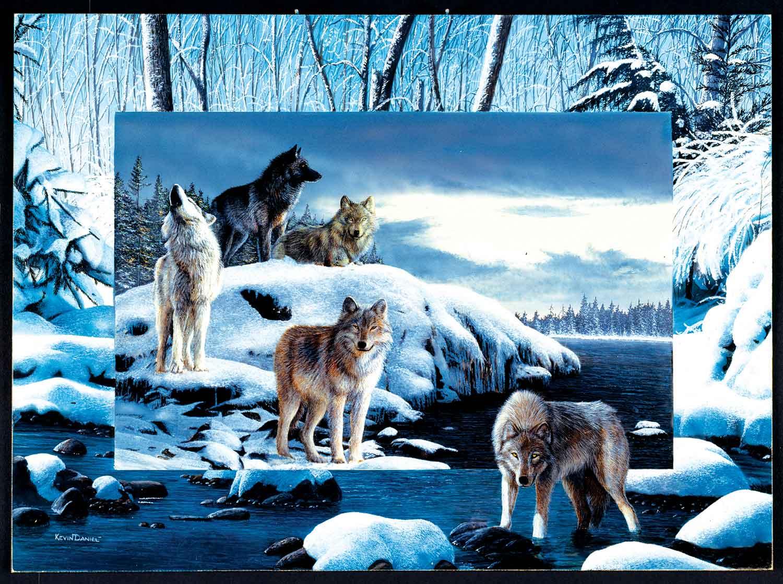 Puzzle SunsOut Lobos de Hielo de 1000 Piezas