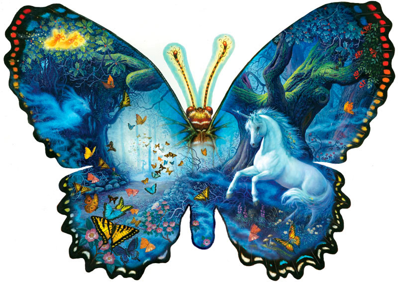 Puzzle SunsOut Mariposa de Fantasía de 1000 Piezas