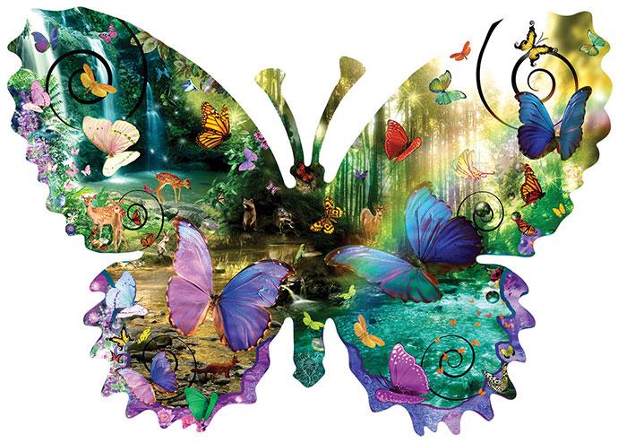 Puzzle SunsOut Mariposa del Bosque XXL de 1000 Piezas