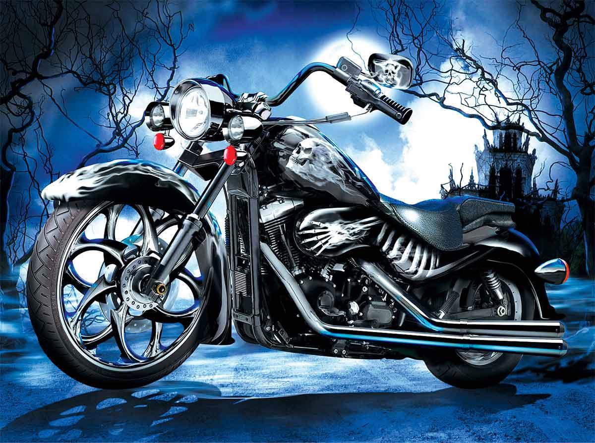 Puzzle SunsOut Motocicleta Skeleton de 1000 Piezas