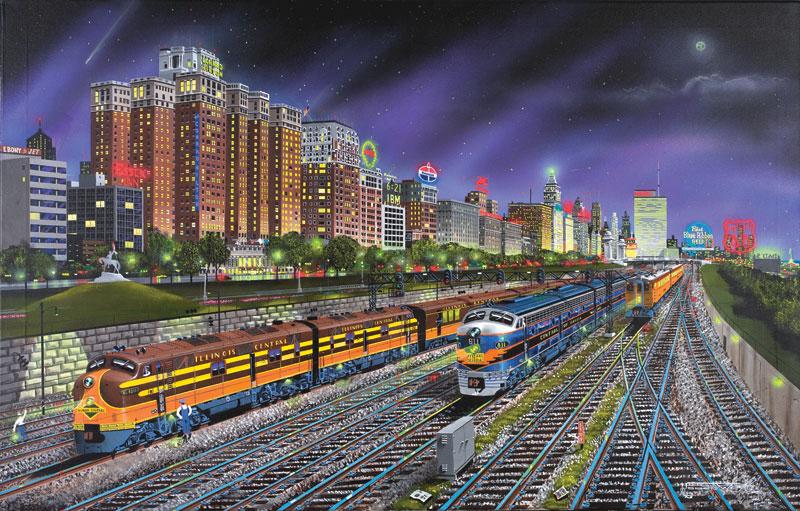 Puzzle SunsOut Noches de Chicago de 1000 Piezas