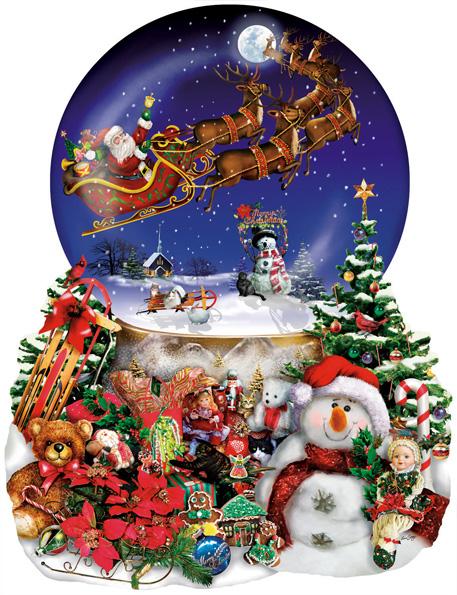 Puzzle SunsOut Paseo Nevado de Papá Noel de 1000 Piezas