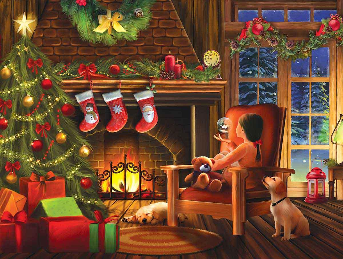 Puzzle SunsOut Soñando con la Navidad de 1000 Piezas