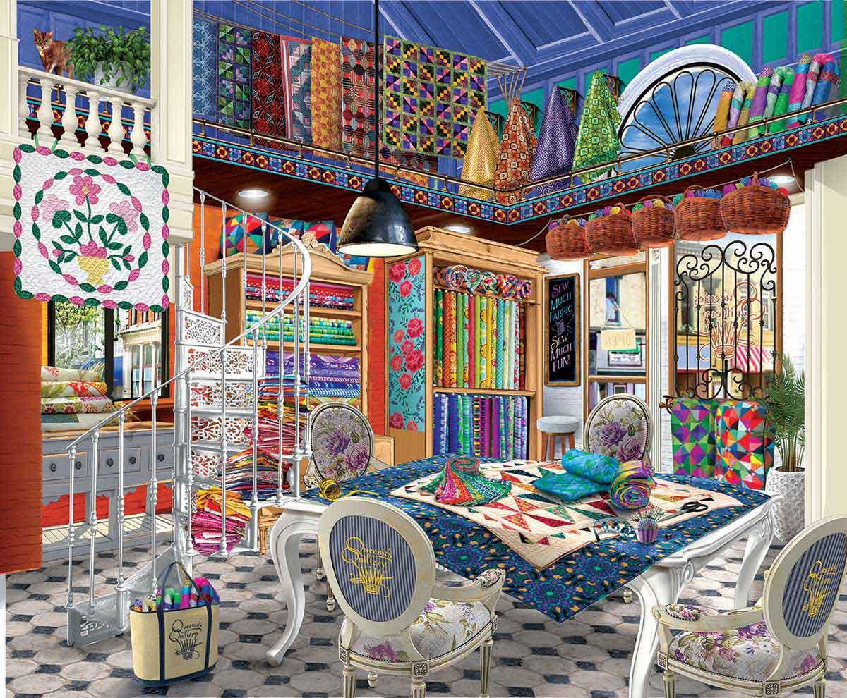 Puzzle SunsOut Tienda de Colchas de Queenie XXL de 1000 Pzs