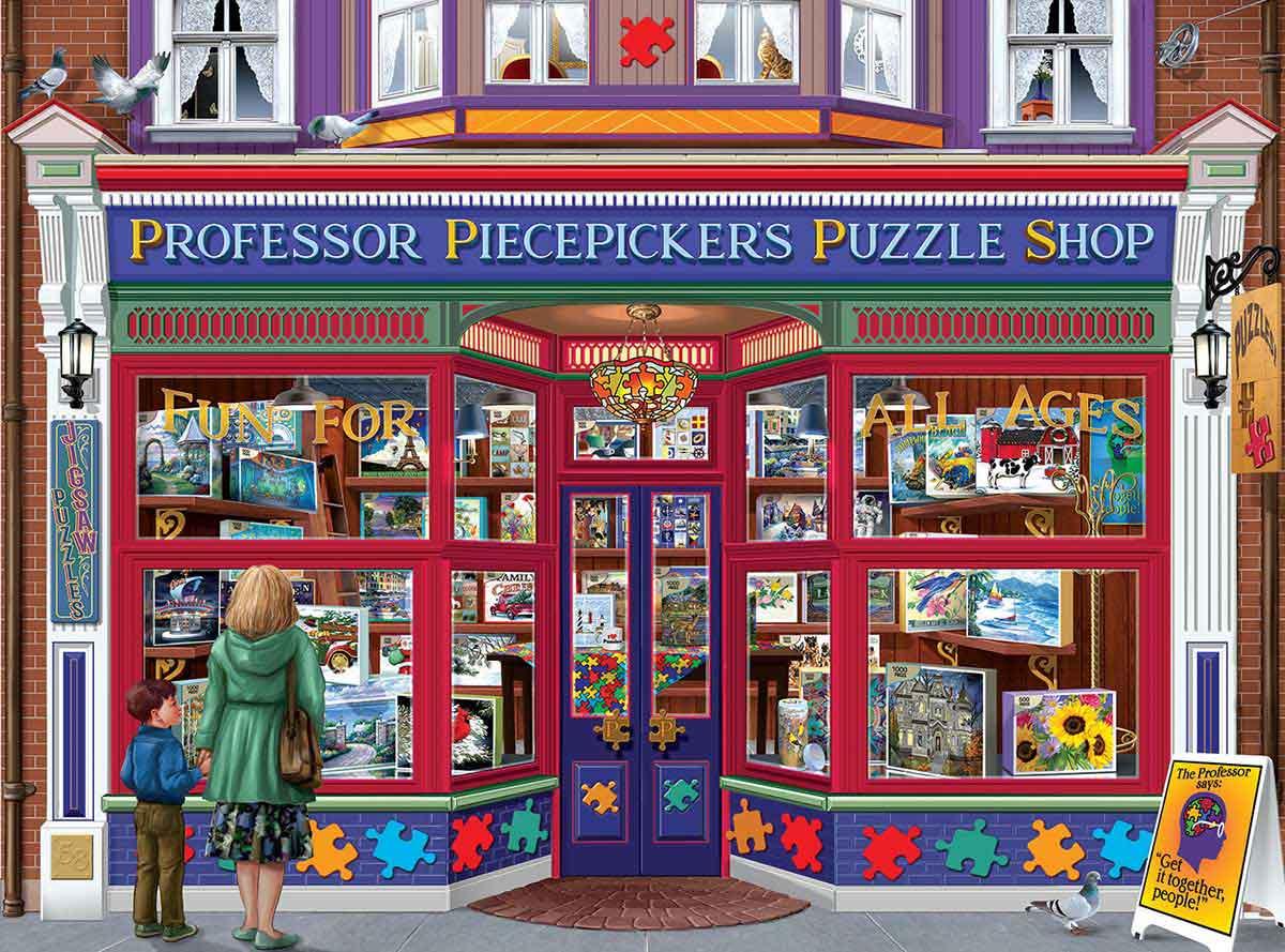 Puzzle SunsOut Tienda de Puzzles del Profesor de 1000 Piezas