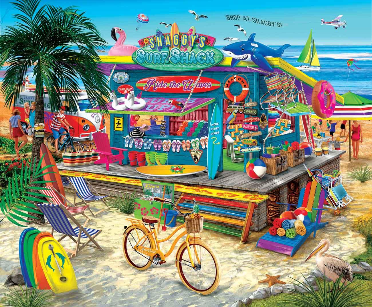 Puzzle SunsOut Tienda de Surf de Shaggye XXL de 1000 Pzs