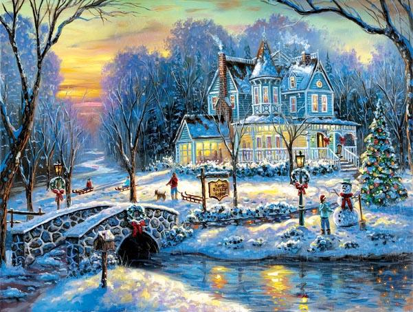 Puzzle SunsOut Una Blanca Navidad de 1000 Piezas