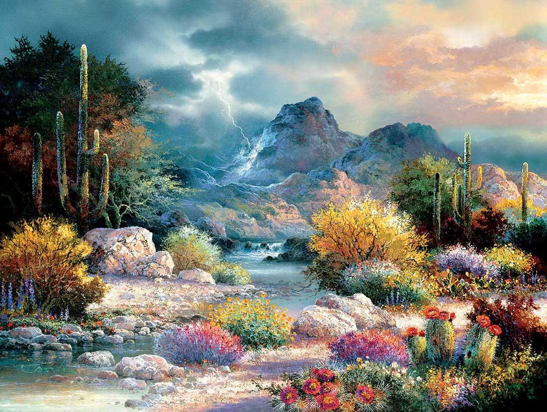 Puzzle SunsOut El Valle En Primavera XXL de 300 Piezas