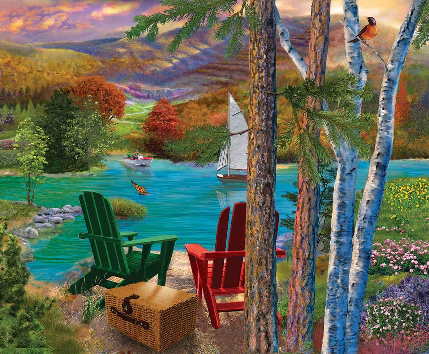 Puzzle SunsOut Vista del Lago de 1000 Piezas