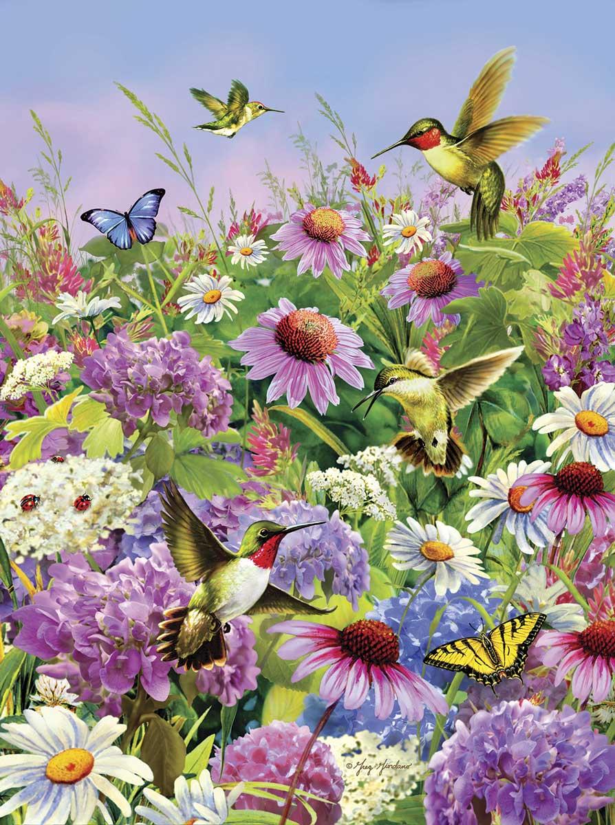 Puzzle SunsOut Volando entre las Flores del Jardín de 1000 Pieza