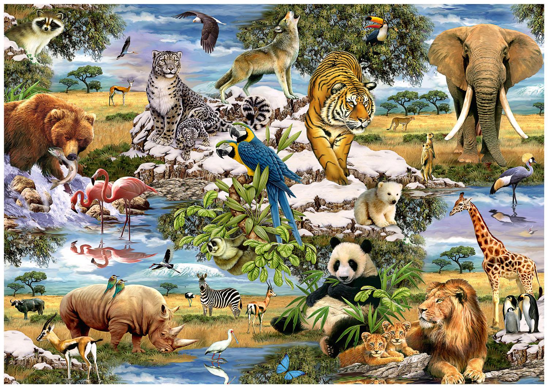 Puzzle Trefl Animales del Mundo de 1000 Piezas