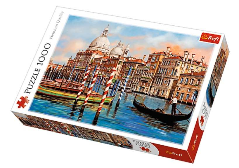Puzzle Trefl Atardecer en el Canal de Venecia de 1000 Piezas