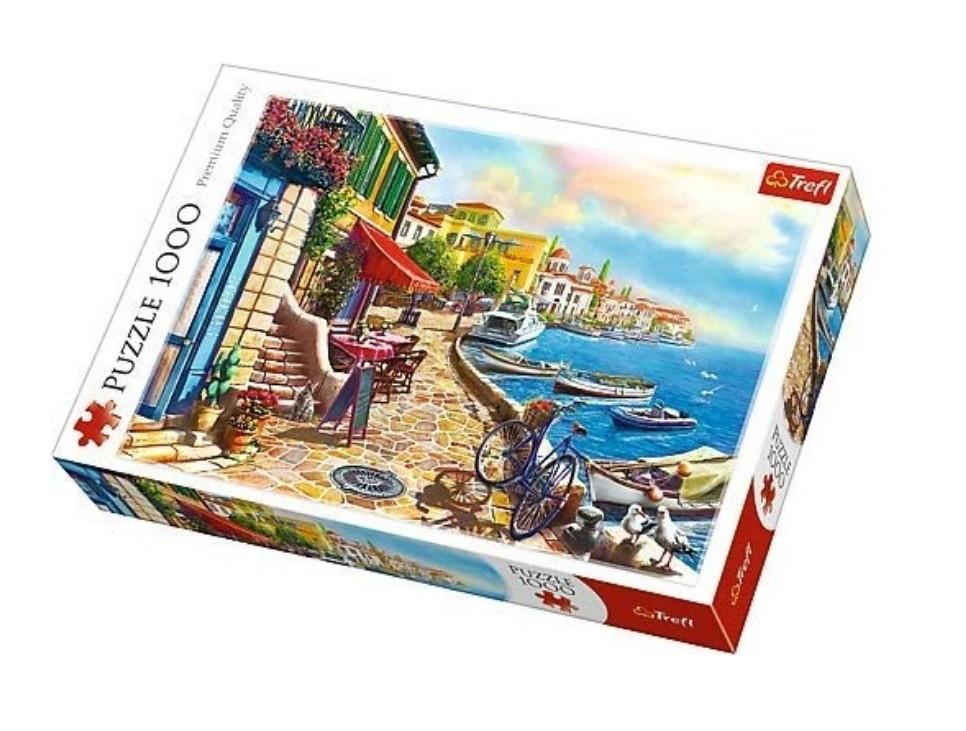Puzzle Trefl Día Soleado en el Embarcadero de 1000 Piezas