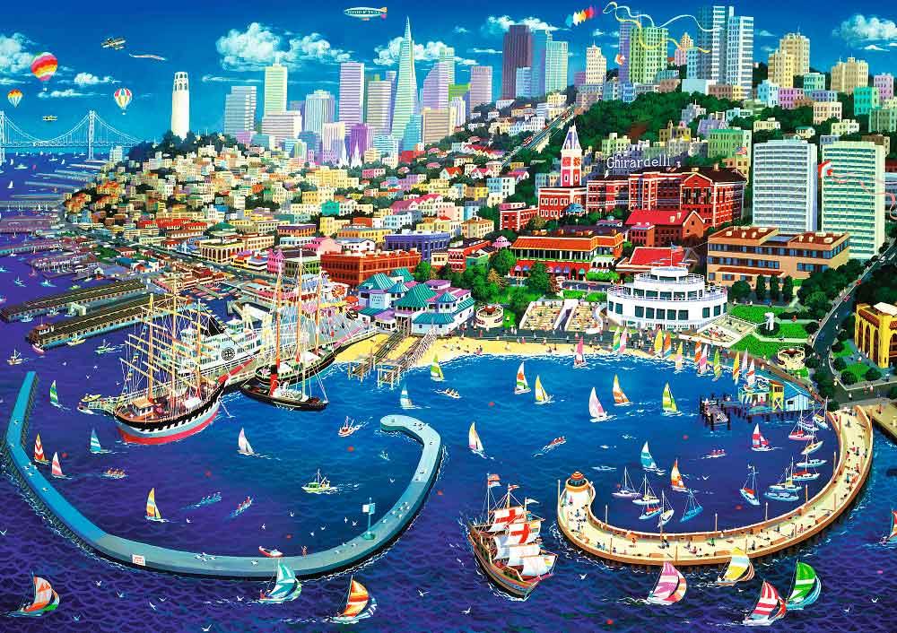 Puzzle Trefl Bahía de San Francisco de 2000 Piezas
