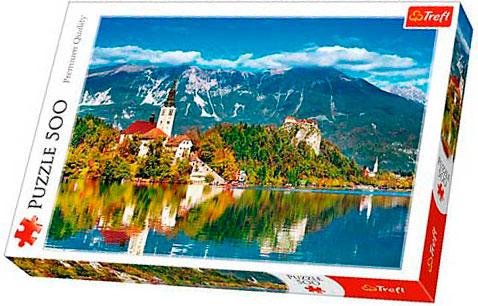 Puzzle Trefl Bled, Slovenia de 500 piezas