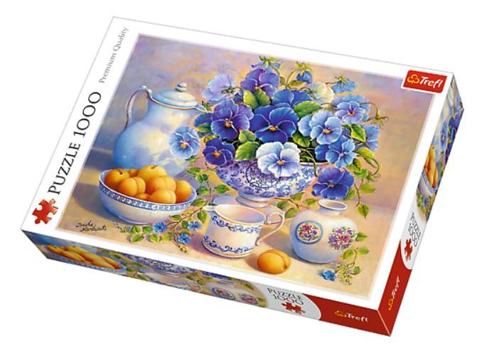 Puzzle Trefl Bodegón de Flores y Albaricoques de 1000 Piezas