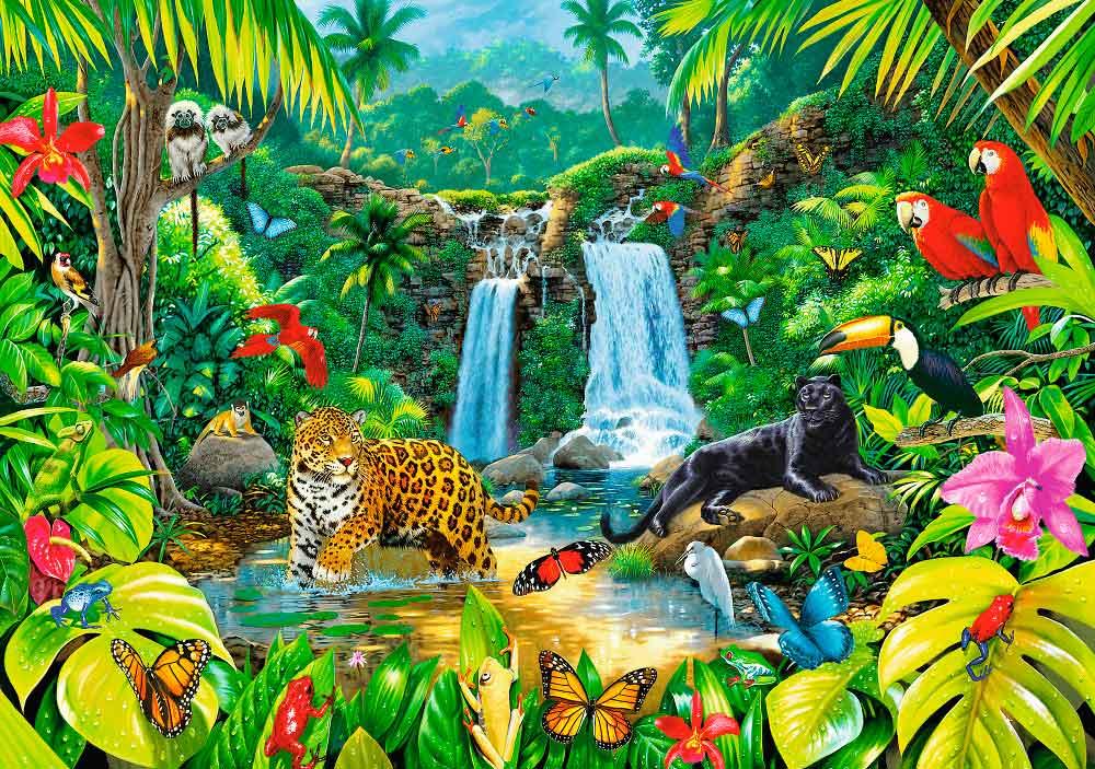 Puzzle Trefl Bosque Tropical de 2000 Piezas