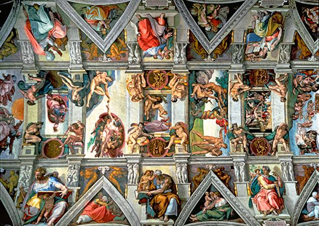 Puzzle Trefl Bóvedas de la Capilla Sixtina de 6000 Piezas