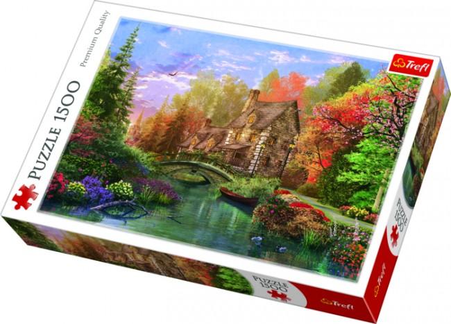 Puzzle Trefl Cabaña en el Lago de 1500 Piezas