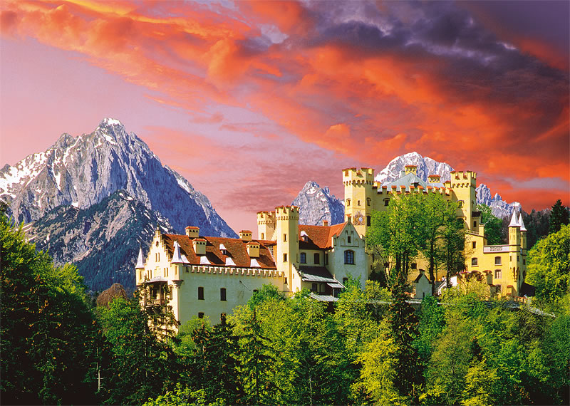 Puzzle Trefl Castillo Honenshwangau, Bavaria de 2000 Piezas