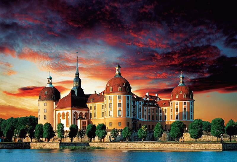 Puzzle Trefl Castillo Moritzburg, Alemania de 1500 Piezas
