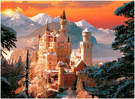 Puzzle Trefl Castillo de Neuschwanstein, Alemania de 3000 Piezas